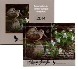 QUEBEC WILDLIFE HABITAT CONSERVATION -  2014 AMERICAN WOODCOCK (SIGNED) 27