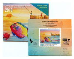 QUEBEC WILDLIFE HABITAT CONSERVATION (JUNIOR) -  2018 THE SUNNY SUNFISH (UNSIGNED) 01