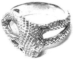 QUERCUS ALBA -  NIDHOGG RING - SILVER (SIZE 6)
