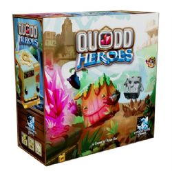 QUODD HEROES -  BASE GAME + FRINGE UNDERGROUND MAP PACK (ENGLISH) - USED (PUNCHED) -  KICKSTARTER EXCLUSIVE