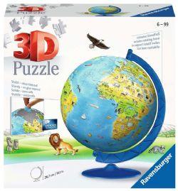 RAVENSBURGER -  3D GLOBE XXL (180 PIECES) -  3D PUZZLE