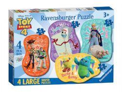 RAVENSBURGER -  4 LARGE SHAPE PUZZLE (10, 12, 14, 16 PIECES) - 3+