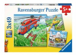 RAVENSBURGER -  ABOVE THE CLOUDS (3X49 PIECES) - 5+
