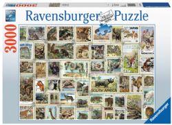 RAVENSBURGER -  ANIMAL STAMPS (3000 PIECES)