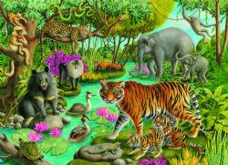 RAVENSBURGER -  ANIMALS OF INDIA (60 PIECES) - 4+