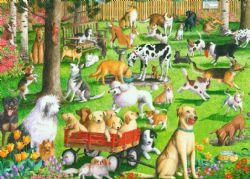 RAVENSBURGER -  AT THE DOG PARK (500 PIECES)