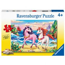 RAVENSBURGER -  BEACH UNICORNS (35 PIECES) - 4+