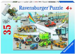 RAVENSBURGER -  BUSY AIRPORT (35 PIECES) - 4+