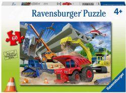 RAVENSBURGER -  CONSTRUCTION TRUCKS (60 PIECES) - 4+