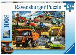 RAVENSBURGER -  CONSTRUCTION VEHICLES (100 PIECES XXL) - 6+