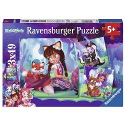 RAVENSBURGER -  ENCHANTIMALS WORLD! (3X49 PIECES) - 5+