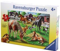 RAVENSBURGER -  HAPPY HORSES (60 PIECES) - 4+