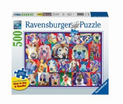 RAVENSBURGER -  HELLO DOGGIE (500 PIECES) -  FORMAT PIECES LARGES