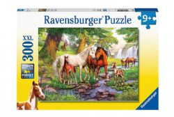 RAVENSBURGER -  HORSES BY THE STREAM (300 XXL PIECES) - 9+