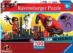 RAVENSBURGER -  INCREDIBLES 2 (200 PIECES) - 8+ -  PANORAMIC