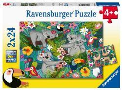 RAVENSBURGER -  KOALAS AND SLOTHS (2X24 PIECES) - 4+
