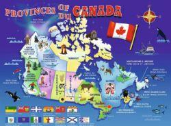 RAVENSBURGER -  MAP OF CANADA (100 XXL PIECES) - 6+