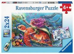 RAVENSBURGER -  MERMAID ADVENTURES (2X24 PIECES) - 4+