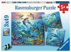 RAVENSBURGER -  OCEAN LIFE (3X49 PIECES) - 5+
