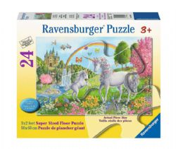 RAVENSBURGER -  PRANCING UNICORNS (24 PIECES XXL) - 3+