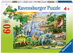 RAVENSBURGER -  PREHISTORIC LIFE (60 PIECES) - 4+
