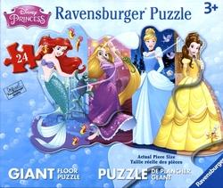 RAVENSBURGER -  PRINCESSES (24 PIECES) - 3+ -  FLOOR PUZZLE