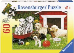 RAVENSBURGER -  PUPPY PARTY (60 PIECES) - 4+