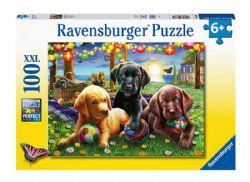RAVENSBURGER -  PUPPY PICNIC (100 XXL PIECES) - 6+