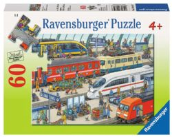 RAVENSBURGER -  RAILWAY STATION (60 PIECES) - 4+