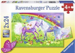 RAVENSBURGER -  RAINBOW HORSES (3X49 PIECES) - 5+