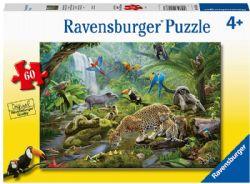 RAVENSBURGER -  RAINFOREST ANIMALS (60 PIECES) - 4+