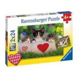 RAVENSBURGER -  SLEPPY KITTENS (2X24 PIECES) - 4+