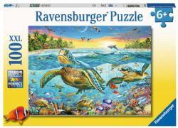 RAVENSBURGER -  SWIM WITH SEA TURTLES (100 XXL PIECES) - 6+