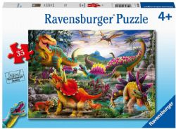RAVENSBURGER -  T-REX TERROR (2X24 PIECES) - 4+