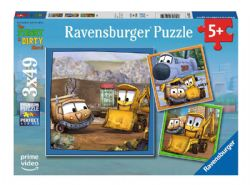 RAVENSBURGER -  THE STINKY AND DIRTY SHOW! BEST FRIENDS (3X49 PIECES) - 5+
