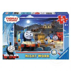 RAVENSBURGER -  THOMAS & FRIENDS - NIGHT WORK - GLOW IN THE DARK (60 PIECES) - 4+