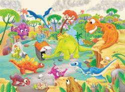 RAVENSBURGER -  TIME TRAVELLING DINOS (60 PIECES) - 4+