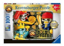 RAVENSBURGER -  TREASURE X (100 PIECES) - 6+