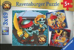 RAVENSBURGER -  TREASURE X (3X49 PIECES) - 5+