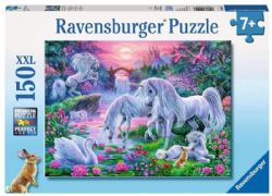 RAVENSBURGER -  UNICORNS IN THE SUNSET GLOW(150 XXL PIECES) - 7+ -  PIÈCES XXL