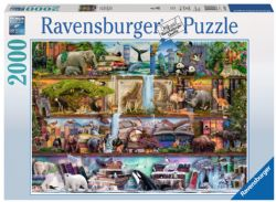 RAVENSBURGER -  WILD KINEDOM SHELVES (2000 PIECES)