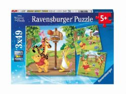 RAVENSBURGER -  WINNIE THE POOH - SPORTS DAY (3X49 PIECES) - 5+