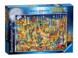 RAVENSBURGER -  WORLD LANDMARKS BY NIGHT (1000 PIECES)