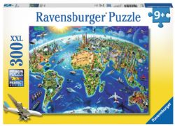 RAVENSBURGER -  WORLD LANDMARKS MAP (300 PIECES XXL) - 9+