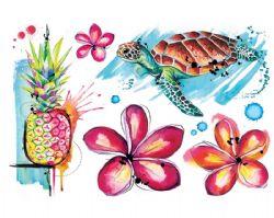 REAL ART, FAKE TATTOO -  HAWAIIAN