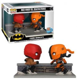 RED HOOD/DEATHSTROKE -  POP! VINYL FIGURE OF RED HOOD VS DEATHSTROKE -  COMIC MOMENTS 336