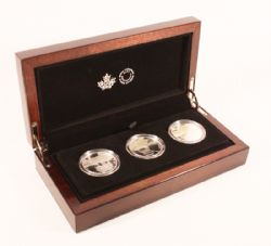 REFLECTIONS OF WILDLIFE -  3-COIN SET -  2016 CANADIAN COINS