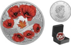 REMEMBRANCE DAY -  A WREATH OF REMEMBRANCE: LEST WE FORGET -  2021 CANADIAN COINS