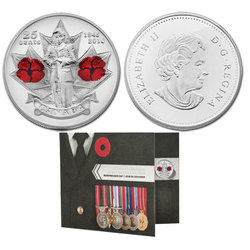 REMEMBRANCE DAY -  REMEMBRANCE DAY COLLECTOR CARD FOR 25-CENT POPPY COINS -  2010 CANADIAN COINS
