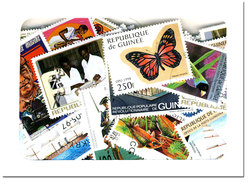 REPUBLIC OF GUINEA -  200 ASSORTED STAMPS -  REPUBLIC OF GUINEA